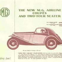 1933 Allingham / Airline leaflet. P & N. Two colours.