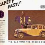 1933 K Booklet. K1 saloon & tourer. 8 pages in full colour.